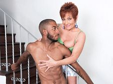 Ruby O'Connor's first bigger in size than standard, dark-skinned cock